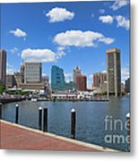 Baltimore Inner Harbor Metal Print by Olivier Le Queinec