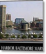 Baltimore Inner Harbor Panorama Metal Print