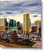 Baltimore Inner Harbor Skyline Panorama Metal Print