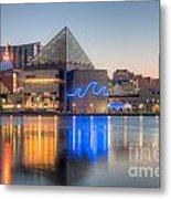 Baltimore National Aquarium At Dawn IIi Metal Print