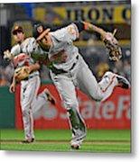 Baltimore Orioles v Pittsburgh Pirates Metal Print