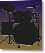 Baltimore Ravens Drum Set Metal Print