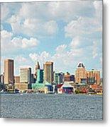 Baltimore Skyline And Inner Harbor Metal Print