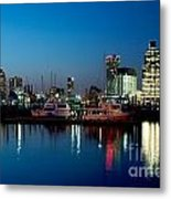 Baltimore Skyline At Dusk Metal Print