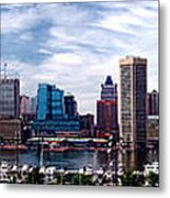 Baltimore Skyline Metal Print by Olivier Le Queinec