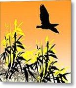 Bamboo Bird Metal Print
