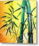 Bamboo Magic Metal Print
