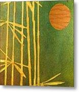 Bamboo Moon Metal Print