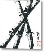 Bamboo On South Indian Paper Metal Print