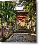 Bamboo Temple Metal Print