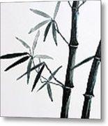 Bamboo Tree Metal Print