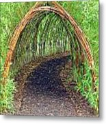Bamboo Tunnel Metal Print by Olivier Le Queinec
