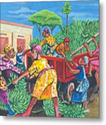 Banana Delivery In Cameroon 01 Metal Print