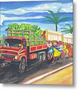 Banana Delivery In Cameroon 02 Metal Print