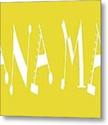 Banana Manna - Yellow - Color - Letter Art Metal Print