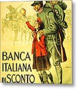 Banca Italiana Di Sconto, 1917 Metal Print
