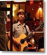 Band At Palaad Tawanron Restaurant - Chiang Mai Thailand - 01133 Metal Print