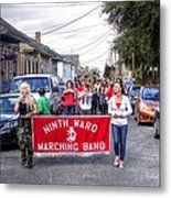 Band Practice In The Bywater Metal Print