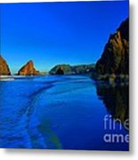 Bandon Blue And Gold Metal Print by Adam Jewell