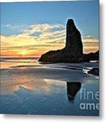 Bandon Oregon Sunset Metal Print by Adam Jewell