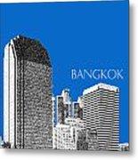 Bangkok Thailand Skyline 2 - Blue Metal Print