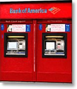 Bank Of America Automated Teller Machine - Painterly - 5d20737 Metal Print