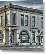 Bank To Barbershop Metal Print by MJ Olsen