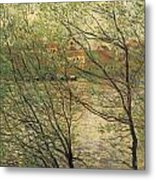 Banks Of The Seine Island Of La Grande Jatte Metal Print by Claude Monet