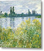 Banks Of The Seine Vetheuil Metal Print