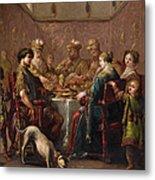 Banquet Scene Metal Print
