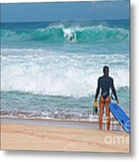Banzai Pipeline Aqua Dream Metal Print