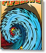 Banzai Pipeline Hawaii Surfing Metal Print by Larry Butterworth