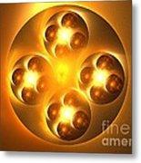 Baoding Balls Metal Print