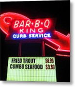 Bar B Q King In Charlotte N C Metal Print by Randall Weidner