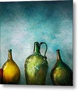 Bar - Bottles - Green Bottles  Metal Print