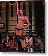 Bar Top Dancer In Las Vegas Metal Print