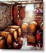 Bar - Wine - The Wine Cellar  Metal Print by Mike Savad