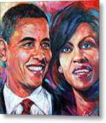 Barack And Michelle Obama Metal Print