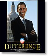 Barack Obama Difference Metal Print by Retro Images Archive