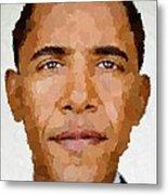 Barack Obama Metal Print by Samuel Majcen