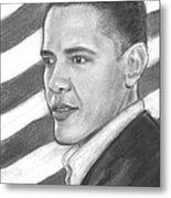 Barack Metal Print by Sue Carmicle