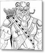 Baragh The Warrior Metal Print
