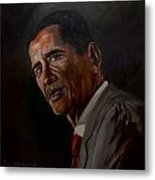 Barak Obama Metal Print by Paul Whitehead