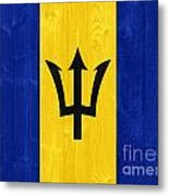 Barbados Flag Metal Print
