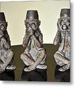 Barbary Macaques Monkeys Metal Print