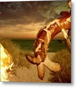 Barbecue On The Beach Metal Print