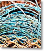 Barbed Blue Metal Print