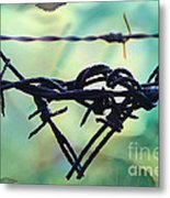 Barbed Wire Love-jealousy 2 Metal Print