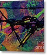 Barbed Wire Love-punch Drunk Metal Print