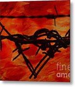 Barbed Wire Love Series  Rage Metal Print
